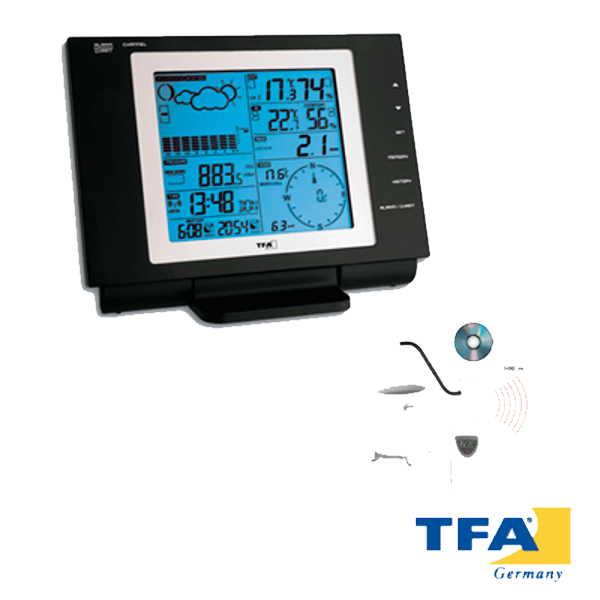 Estacion meteorologica interior y exterior con reloj y luz NEXUS 35.1075