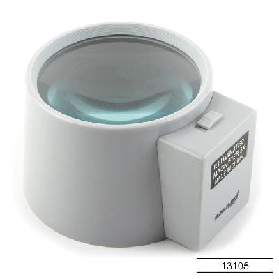 Lupa lente de cristal con luz (3x) 13105